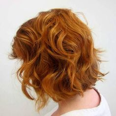curly shag red bob