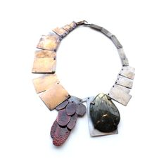 labradorite, enamel, bronze, silver Karen Gilbert