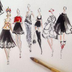Dolce & Gabbana SS15. Follow me on Instagram @jeanettegetrost as I illustrate Paris Fashion Week!