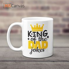 If your dad loves to embarrass you in front of your friends by cracking his lame dad jokes, then our King of The Dad Jokes Mug is exactly what he needs on this Father's Day. This Father's Day mug makes an excellent gift for dad and will help you to convey, in a very subtle manner, that he needs to tone down his humor cause it's getting embarrassing!