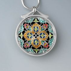 PMC sterling and resin pendant by ivywoodrose on Etsy