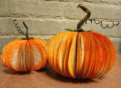 Thanksgiving Pumpkin made from old books. Eco Friendly.  https://www.etsy.com/listing/162884913/thanksgiving-pumpkin-eco-friendly-fall?ref=sr_gallery_14&ga_search_query=fall&ga_order=most_relevant&ga_view_type=gallery&ga_ship_to=CR&ga_page=3&ga_search_type=all&utm_content=buffer95524&utm_medium=social&utm_source=pinterest.com&utm_campaign=buffer