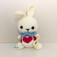 This White Rabbit is an original Yarn Treasures design inspired by Lewis Carrolls Alice in Wonderland. Hes the perfect addition to any Tea