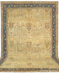 FERAHAN, West Central Persian 15ft 7in x 20ft 2in Circa 1875 http://www.claremontrug.com/antique-rugs-information/collecting/claremont-rug-companys-new-acquisition-highlights-antique-persian-rugs/ferahan-west-central-persian-15ft-7in-x-20ft-2in-circa-1875/