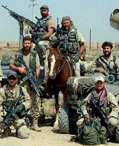 """""""Horse Soldiers"""" an ODA Team from the 5th Special Forces Group in Afghanistan---- Doesn't get more bad ass than that."""