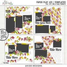 Paper Play 21 | Templates