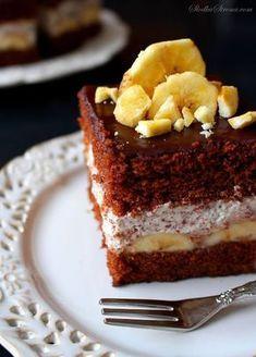 Ciasto Czekoladowe z Kremem Straciatella i Bananami Polish Recipes, Polish Food, Tiramisu, Sweet Tooth, Cheesecake, Sweets, Ethnic Recipes, Desserts, Cakes