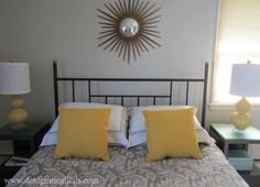 Master Bedroom Decor. want that sun thing above the bed