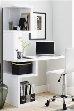 Perfect Mini Office Design Ideas For Your Home - Today, it's the unusual home that does not have some sort of home office. It may be a corner in the kitchen or den or an entire room but everyo Home Office Space, Home Office Desks, Small Office, Office Decor, Office Ideas, Mini Office, Office Setup, Office Designs, Home Office Table