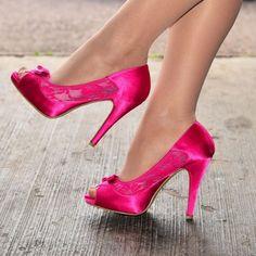 Cyan Satin Evening Shoes Rhinestones Peep Toe Stiletto Heel Pumps for Wedding, Big day Strappy Shoes, Peep Toe Heels, High Heel Pumps, Pumps Heels, Stiletto Heels, Stilettos, Pantyhose Heels, Stockings Heels, Sexy Legs And Heels