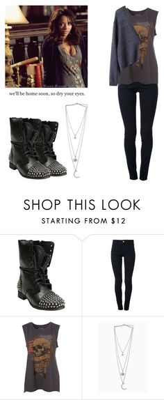 """""""Bonnie Bennett - tvd / the vampire diaries"""" by shadyannon ❤ liked on Polyvore featuring Steve Madden, STELLA McCARTNEY, MTWTFSS Weekday and GUSTA"""