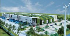 """Green """"sustainable"""" warehouse. Green roof!!!"""