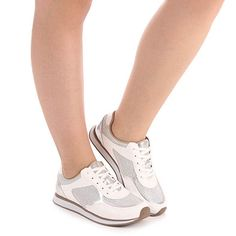 Tênis Jogging Feminino Via Marte - Branco - Escolha seu tamanho | Passarela