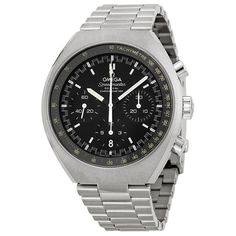 Omega Speedmaster Mark II Automatic Chronograph Black Dial Stainless Steel Men\'s Watch