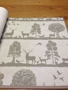Stunning Woodland Scene Wallpaper by Voyage 'Country' Wall Art - lots of colours available @ Cotton Tree Interiors UK (+44)1728 604700