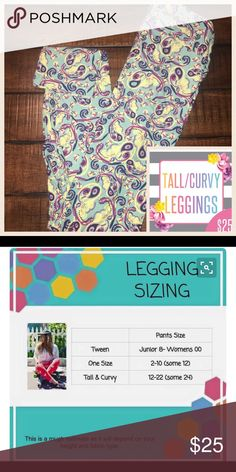LuLaRoe Tall and Curvy Leggings Super soft Leggings feel like your own skin. Never bag or sag and no shinny butt lol. You will love these leggings and will be hooked after you butter yourself :) LuLaRoe Pants Leggings