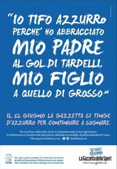 Gazzetta Dello Sport campagna tifo azzurro CRM Telefono Azzurro