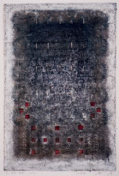D-28.Oct.1997 painting, collage on the paper/ paper making 林孝彦 HAYASHI Takahiko