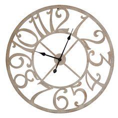 "Round Time Oversized 29"" Wall Clock #birchlane"
