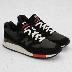 New Balance 998 Black/Red (Made in U.S.A.)