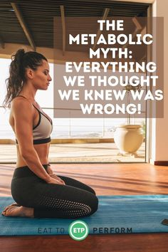 """Everything we thought we knew about metabolism is wrong and when I say WE I mean, most everyone else. So let's talk about what """"we"""" thought and what is now thought to be wrong. Weight Loss For Women, Weight Loss Tips, Eat To Perform, Everyone Else, Metabolism, Crossfit, Everything, Healthy Living, Nutrition"""
