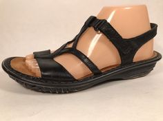 Naot Black Slingback Sandals Womens Sz 8/39 Medium Leather Low #NaotFootwear #Slingbacks #Casual