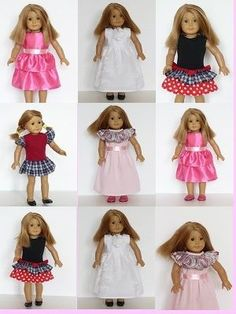 "18"" American Girl doll clothes sewing patterns to download - PARTY DRESS COLLECTION"