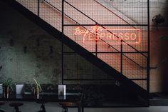 Bay Ten Espresso | Nicola Sevitt Photography Warehouse Loft, Loft Style, Interior Design Inspiration, Industrial Style, Espresso, Hotels, Around The Worlds, Photography, Espresso Coffee