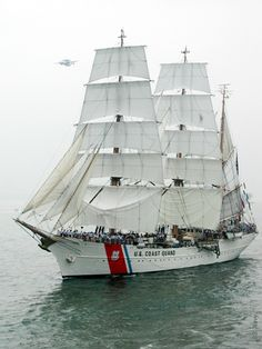 USCG Barque Eagle-- 290-foot long globetrotting ambassador and sail training ship of the U.S. Coast Guard Academy.