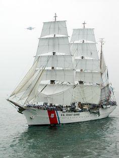 USCG Barque Eagle-- 290-foot long globetrotting ambassador and sail training ship of the U.S. Coast Guard Academy.