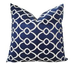 This Rich Blue Pillow Cover will instantly add classic drama to your home! This fabric is a heavy silk (rigged taffeta feeling) cotton blend with