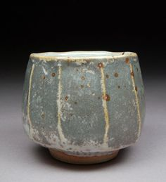 Yunomi Tea Cup Glazed with White Shino and Portland by shyrabbit