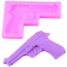Toy gun silicone mold Toy gun mould Fondant toy gun Gumpaste toy Gun Toy gun cake Toy Rifle mold Material Silicone color pink blue or green color