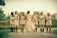 simple cheap outdoor rustic country diy wedding ideas | Country Wedding Bridesmaids