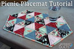 Picnic Placemat Tutorial by Jaybird Quilts
