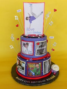 Justin Bieber Birthday Cake--Anna Born. This is for you :)