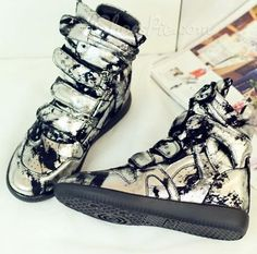 Sexy Buck Round Toe High-top Sneaker From the Plus Size Fashion Community at www.VintageandCurvy.com