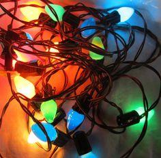 Vintage Set Of 18 Indoor Christmas Lights On by AuntSuesVintage, $22.99