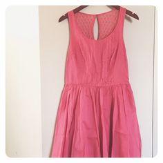 Lauren Conrad sundress NWT Lauren Conrad sundress, coral-ish/pink-ish, crochet back. Shell- 100% cotton, Crochet- 75% cotton/25% nylon, Lining- 100% cotton. Size: 8 LC Lauren Conrad Dresses Midi