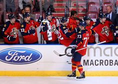 Brandon Pirri  73 of the Florida Panthers celebrates a goal during a game  against the 503c91e32