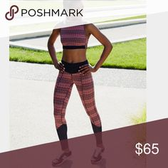Free People Movement Leggings Make a move in these super sleek performance leggings. Crafted from a cool multicolor jacquard fabrication with spacedye print, these leggings feature moto-inspired Power Mesh detail at the hem with exposed zip. Luxe Be Free banded waistband with exposed zip ensures an effortless, breathable fit.  FP Movement 81% Polyester 19% Spandex Trim: 45% Nylon, 40% Cotton, 15% Elastane Contrast: 81% Nylon, 19% Spandex Lining: 94% Polyester, 6% Spandex Free People Pants…
