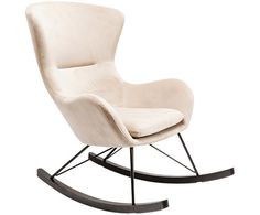 A contemporary rocking chair that captivates with its casual look and high comfort. Gives every interior a modern touch. Oslo, Pouf Design, Chair Design, Kare Design, Laminated Veneer Lumber, Furniture Cleaner, Leather Recliner, Living Room Sets, Rocking Chair
