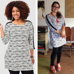 Style & Co Stripe Printed Tunic, sizes M-3X, on Jamie F. via Facebook