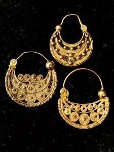 Mexican Filigree Earrings from Oaxaca Oaxaca Filigree and Mexicans