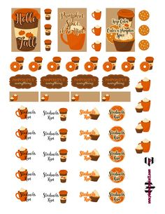 @planner.PICKETT: Pumpkin Spice & Everything Nice FREE Printable Fall Planner Stickers