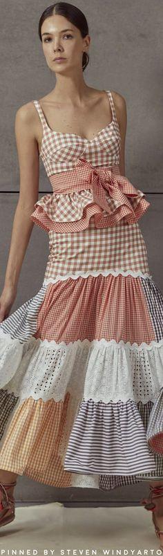 Silvia Tcherassi Estercita Cotton Peplum Top Size: XS - Soak Tutorial and Ideas Spring Fashion Outfits, Autumn Fashion, Summer Outfits, Fashion Dresses, Pretty Dresses, Beautiful Dresses, Fashion Line, Designer Dresses, Ready To Wear