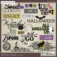 Witches' Brew Word Art :: Gotta Pixel Digital Scrapbook Store Halloween word art