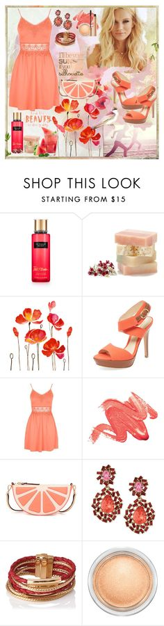 """I'll be your sunset"" by julyralewis ❤ liked on Polyvore featuring WALL, Alexandre Birman, Topshop, Kate Spade, Oscar de la Renta, L.K.Bennett, MAC Cosmetics and Yves Saint Laurent"