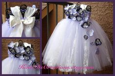 Lavender & Lace Flower Girl Tutu Dress by KatieDscreations on Etsy, $100.00