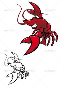 Smiling Crayfish  #GraphicRiver         Smiling red crayfish or shrimp isolated on white. Editable EPS8 (you can use any vector program) and JPEG (can edit in any graphic editor) files are included   SPORTS                                               MASCOTS                                               MEDICINE                                 FOOD                                               LABELS                                               WEDDING  …